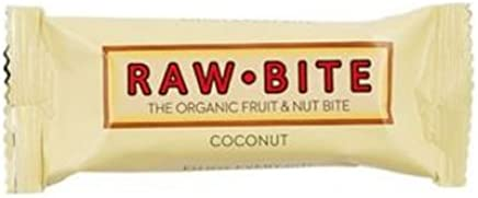 Rawbite Coconut Organic Gluten Free Fruit and Nut Bite, 50g
