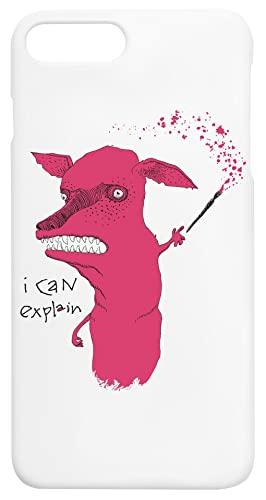 Bad Explanation Art Dog iPhone 7+, 8+ Protector Carcasa de Telefono Protective Phone Case