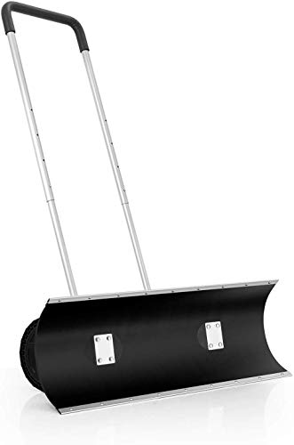 ORIENTOOLS Schneeschaufel, strapazierfähig, rollbar, verstellbar, mit 24 cm Rädern, effiziente große Schneepflüge, geeignet für Auffahrt oder Straßenreinigung (97 cm Klinge)
