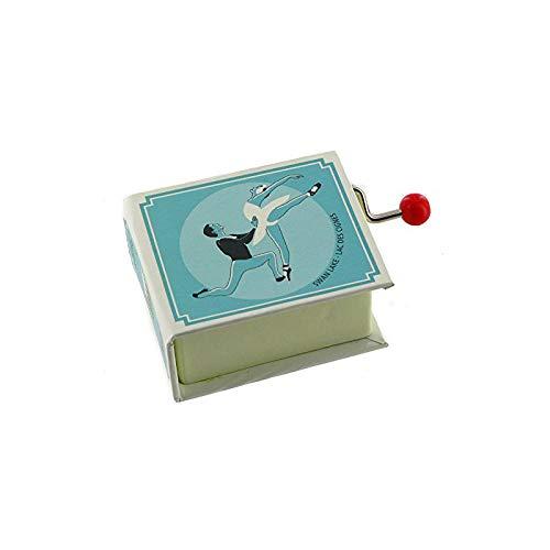 Caja de música / caja musical de manivela de cartón en forma de libro - El lago de los cisnes (P. I. Chaikovski)