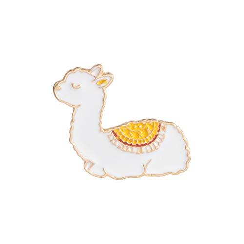 JOOFFF Lama Brosche Cartoon Lama Emaille Brosche Kreative Nette Persönlichkeit Tropföl Brosche Kragen Taschen Zubehör Alpaka Brosche