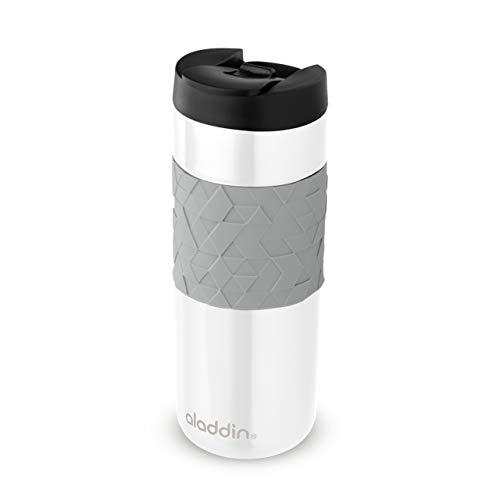 Aladdin Easy-Grip Leak-Lock Technology Mug 0.47L Weiß – Auslaufsicherer Deckel - Edelstahlbecher mit Doppelwandiger Vakuumisolierung - Hält 4...