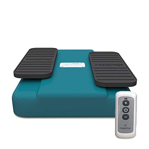 Happylegs 2021- Ejercitador de Piernas Gimnasia Pasiva para Mayores y Jóvenes Apto para Rehabilitación. La Máquina de Andar Sentado Que Ayuda a Mejorar la Circulación (Azul) ⭐