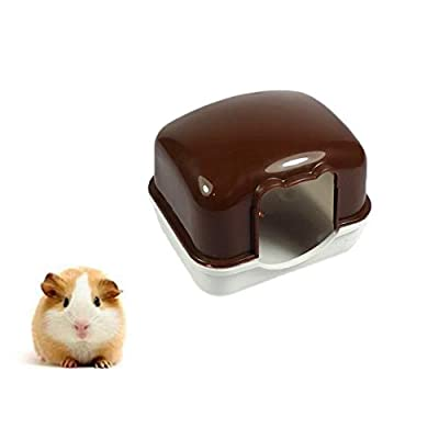 Milopon Hamster House Cage Bed Plastic Sleeping House for Hamster Mouse Small Animal Coffee from Milopon