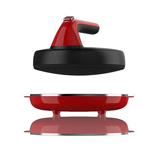 Crêpière Électrique Diamètre 20 Cm Machine À Crêpes Avec Revêtement Anti-Adhérent,Red