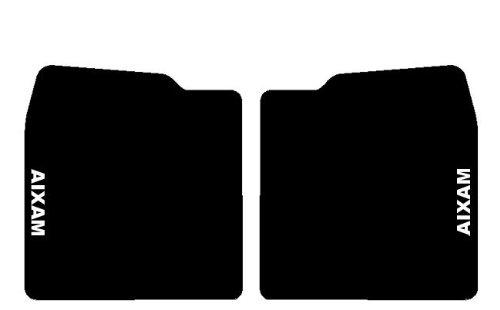 SonCar Tappeti su Misura Neri per Minicar, Set Completo in Moquette con Ricamo a Filo Bianco