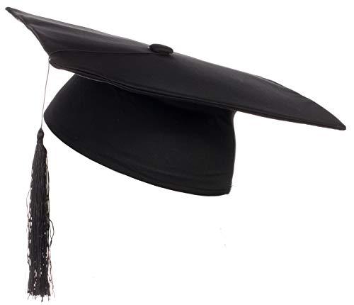 Brandsseller - Doktor Hut Uni Abschlussfeier Absolventenhut Diplomhut Universität Kopfbedeckung - Karneval Fashing Kostüm - Schwarz