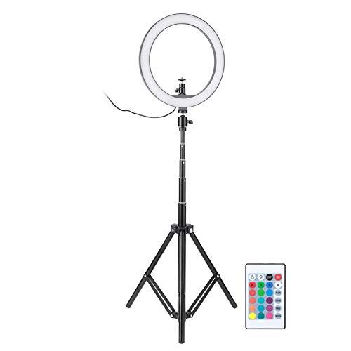 Emoshayoga Lámpara de Anillo Componentes eléctricos de plástico Multicolor Luz de Relleno para Selfies Alimentado por USB para Maquillaje Video Live Studio