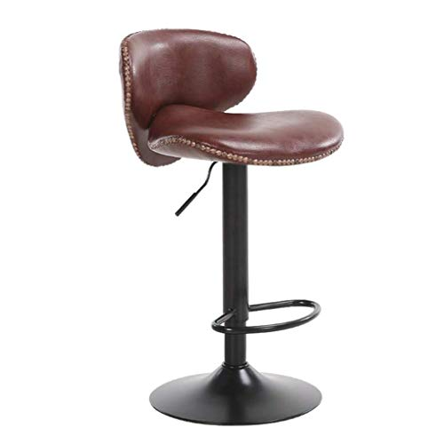 Heces moderne barkruk, draaibare bureaustoel, verstelbare bureaustoel, 61 cm hoog, PU-leer, barkruk