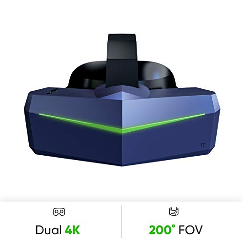 Pimax Vision 8K Plus VR Headset with Wide 200°FOV, Dual 3840x2160 RGB Pixel Matrix Panels, High Fidelity [VR Headset Only][EU Standard Adapter]