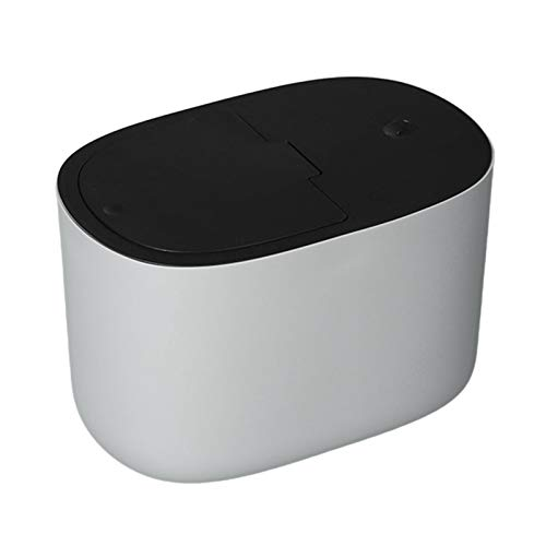 Phoetya Aufbewahrungsbehälter für Hundefutter, Haustierfutter-Aufbewahrungsbox, Drücken Sie eine Taste zum Öffnen, kann 6 bis 8 kg Tierfutter aufbewahren(grau 02 ohne Rollen)