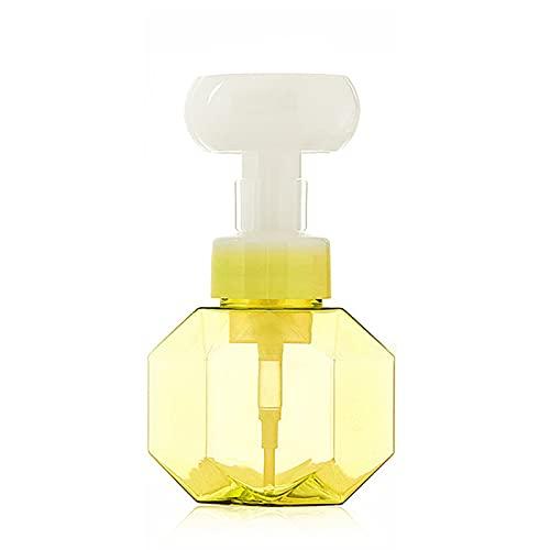 Qagazine Dispensador de jabón en forma de flor creativo rellenable Contenedores de jabón dispensador de jabón espumoso dispensador de lavado de manos para limpiador facial loción champú