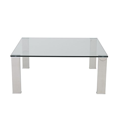 Stainless Steel Square Glass Coffee Table