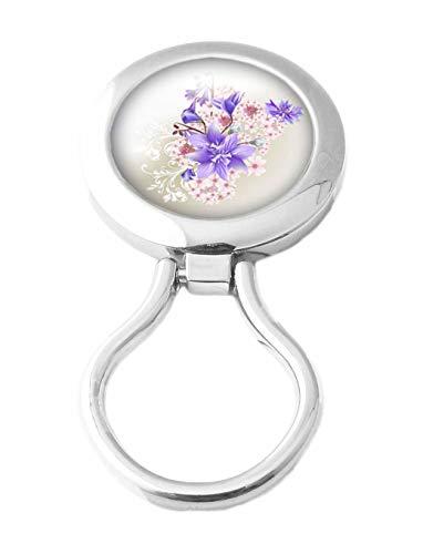 ChicaChicBiarritz Sujeta Gafas Magnetico - Broche Cuelga Gafas Con Iman (Lys violet)