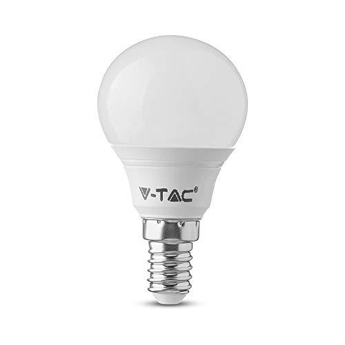 V-TAC LED E14 P45, Samsung Chip, 3000K, 470lm, 5.5 Watt, A+, Kunststoff, weiß, One Size