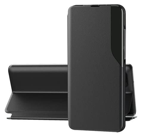 Jancyu Compatible con Samsung Galaxy S9 Funda Galaxy S9 Plus Smart Protección Teléfono Móvil Plegable Funda de Cuero (Galaxy S9, Negro)