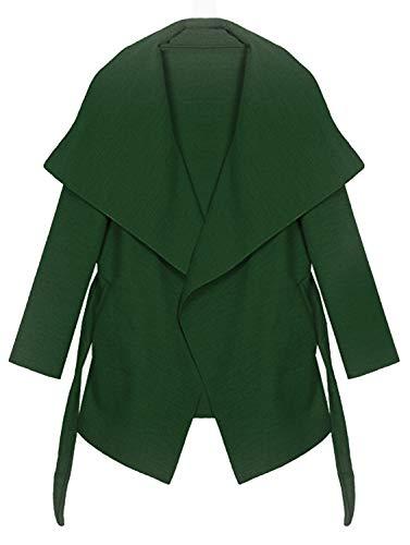 Kendinmia płaszcz damski trencz z paskiem, rozmiar uniwersalny, długi i krótki