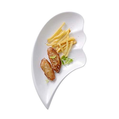 Assiette en Céramique De Fruits De Ktv 33cm Creuse De Salade Ailes De Poulet Au Restaurant Frites Ensemble De Plats Froids