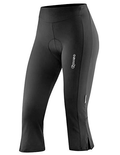 GONSO, 3/4 Jane fietsbroek voor dames, van 90% polyamide 10% EL, gevoerde fietsbroek/capribroek met gezoomde broekspijpen, onderhoudsarm, ademend, vormvast