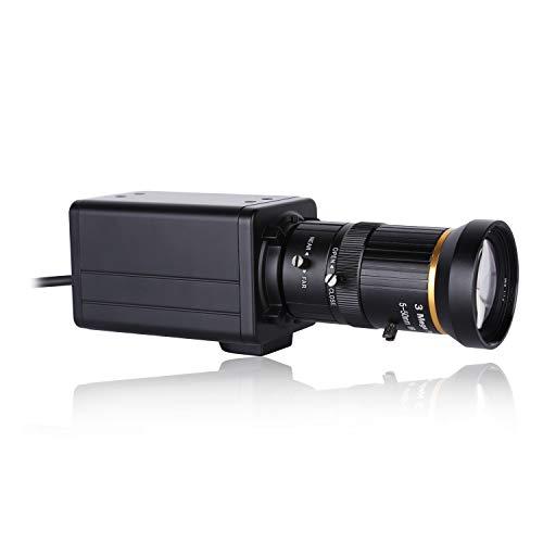 Aibecy Cámara 4K HD Cámara de la computadora Cámara web 8 megapíxeles Zoom óptico de 10X Gran angular de 60 grados Enfoque manual Compensación de la exposición automática con micrófono USB Plug & Play
