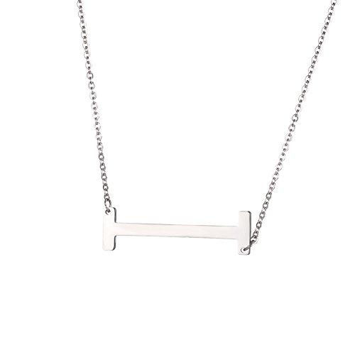 U7 Collar Gargantilla Grabable, Colgante de Iniciales A-Z para Mujer Estilo Simple y Moderno con 2mm 50cm Cadena Fina Rolo Regalo para Mujer