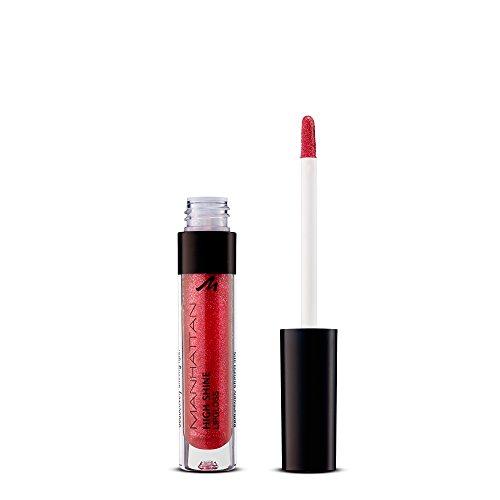 Manhattan High Shine Lipgloss, Glänzender Lipgloss für intensiv schimmerndes Finish auf den Lippen, Farbe 45T, 1 x 3ml