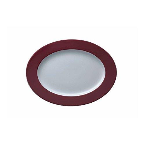 Plat de Service Thomas Sunny Day, Hors d'Œuvres, Porcelaine, Fuchsia / Rouge, Compatible Lave-Vaisselle, 33 cm, 12733
