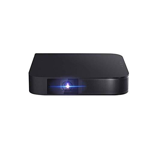 El proyector HD 1080P, el sistema de cine en casa portátil para dormitorios, negro, ABS se puede usar como tesoro de carga, linterna, adecuado para teléfonos móviles, computadoras portátiles, etc.