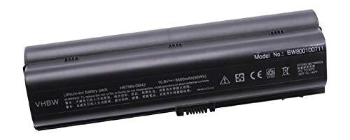 vhbw Batterie LI-ION 8800mAh 10.8V Noir Compatible pour HP Compaq Presario remplace HSTNN-LB31, HSTNN-DB31, HSTNN-DB32, HSTNN-IB31, HSTNN-IB32 etc.
