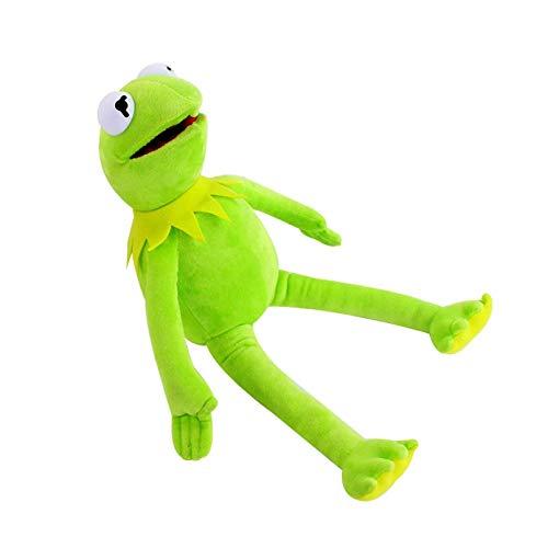 ZHQIC 40 cm / 16 Pulgadas de Peluche Juguete Sésamo Street Komi muñeca Rana rellena Animal Peluche muñeca Rana niños (Verde)