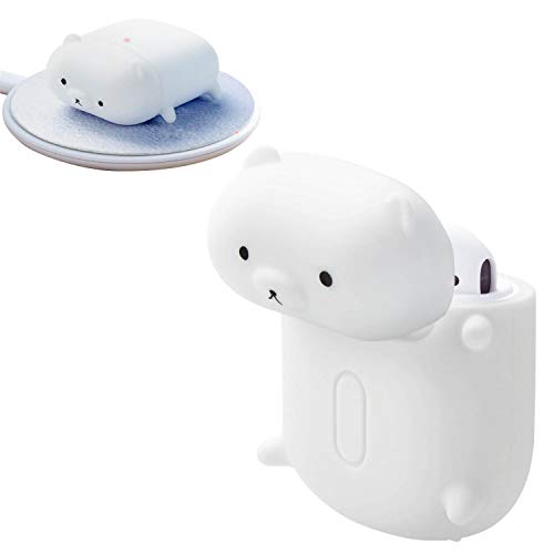 ELECOM Animal Design Silicon Protct Case Compatible with AirPods...