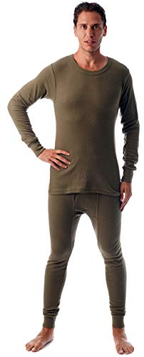 #followme Ultra Soft Thermal Underwear Set for Men 95963-Olive-XL
