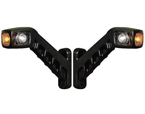 Par de luces LED de posicion lateral de 12V 24V para camiones, remolques, semirremolques, tractores, etc, rojo y amarillo y blanco