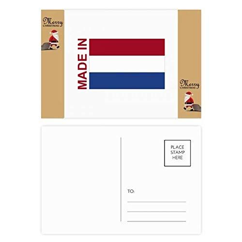 Gemaakt in Nederland Land Liefde Kerstman Gift Ansichtkaart Thanks Card Mailing 20 stks
