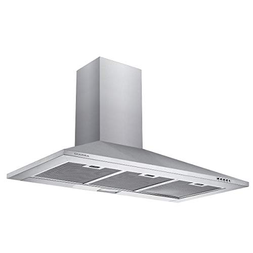 CIARRA CBCS9201 Stainless Steel Chimney Cooker Hood 90cm...