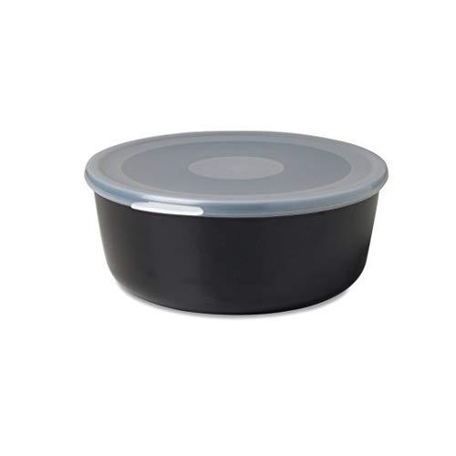 Mepal schaal met deksel volumia 1 L, plastic, zwart, 19 x 17,2 x 7,2 cm
