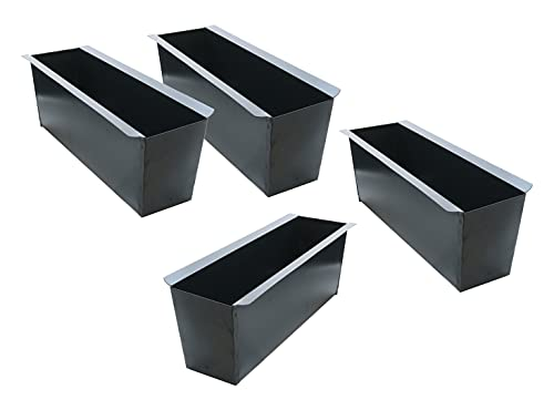 Spetebo Metall Pflanzkasten Einsatz für Europalette - 4 Stück/grau - Blumenkasten Balkonkasten Pflanzenkasten