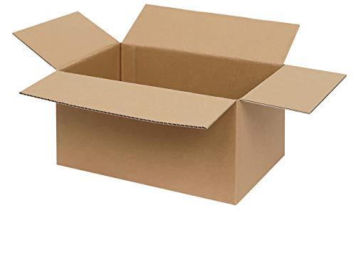 100 Faltkartons 300 x 200 x 150 mm | Versandkartons | Faltschachteln | Kartons zum Paketversand mit DHL, DPD, GLS und Hermes | verschiedene Mengen 25-1000 Stück wählbar