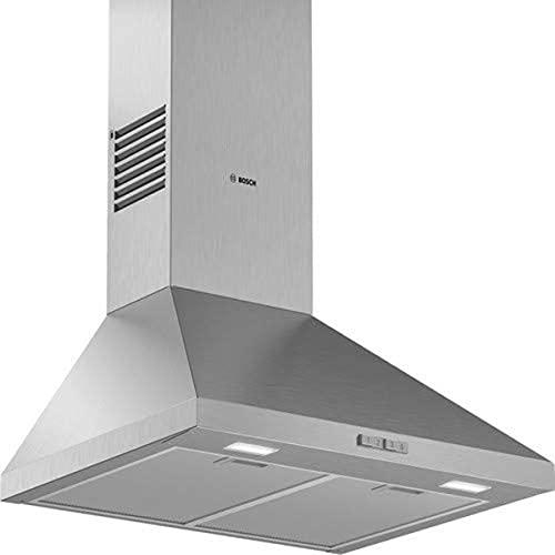 Bosch DWP64BC50 Serie 2 Wandesse / D / 60 cm / Edelstahl / wahlweise Umluft- oder Abluftbetrieb / Drucktastenschalter / Intensivstufe / Metallfettfilter (spülmaschinengeeignet)