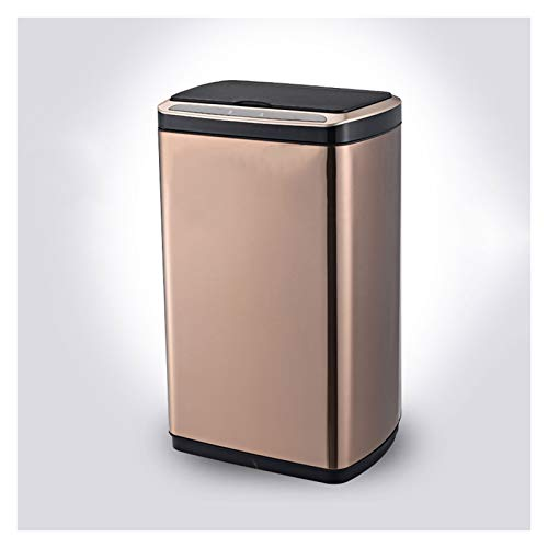 Cubo de Basura Bote de basura inteligente con tapa de acero inoxidable La basura de la inyección de la inyección de la fabricación de la bote de basura de la cocina de gran capacidad, carga USB / bate