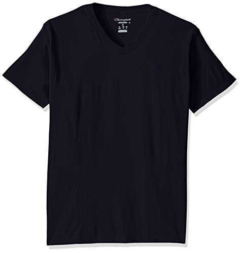 Champion Men's Classic Jersey V-Neck T-Shirt, Navy, 3X Large