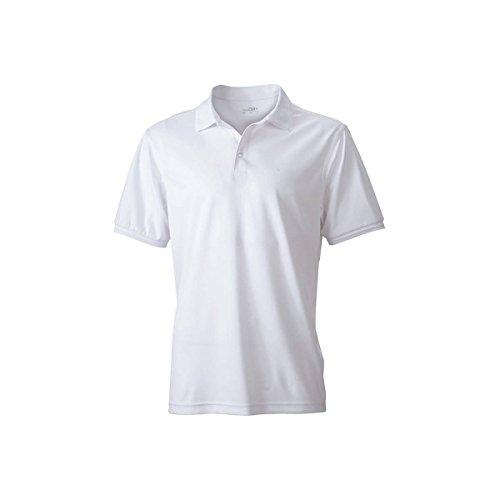 NJ Polo uni Anti-UV - 3XL, Couleur - Blanc