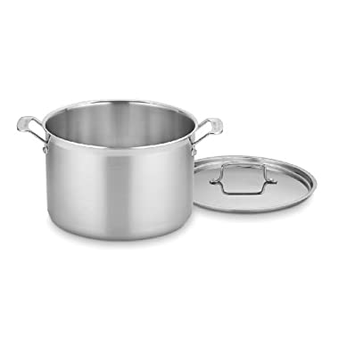 Cuisinart MCP66-28N MultiClad Pro Stainless 12-Quart Stockpot with Cover