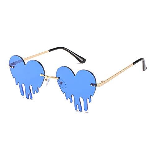 LUOXUEFEI Gafas De Sol Gafas De Sol Mujer Gafas Sin Montura Coloridas Lentes Transparentes Gafas De Sol Femeninas