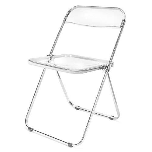 Folding chair Esszimmer Klappstuhl Kunststoff Klappstuhl Haushalts Acryl Stuhl Outdoor Klappstuhl Pink/Gelb/Blau/Transparent Esszimmerstuhl 74,5 × 48 × 47 cm