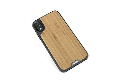 Mous - Coque de Protection pour iPhone XR - Limitless 2.0 - Bois de Bambou - Protection d'écran Incluse