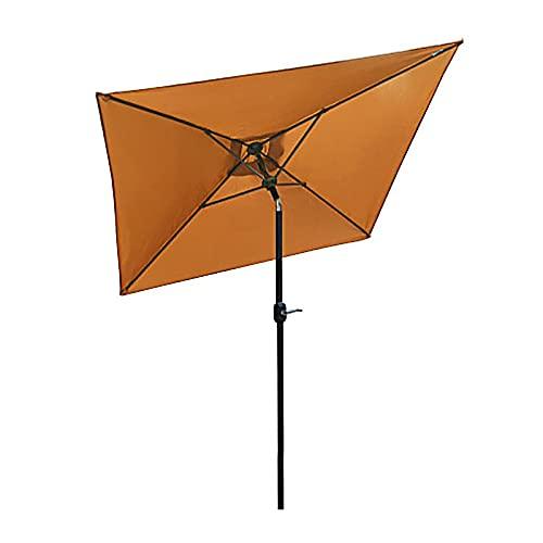 ZLI Paraguas de Jardín Sombrilla de Jardín de 6.5 Pies con Función de Manivela e Inclinación, Paraguas Al Aire Libre para Patio/Playa/Junto a la Piscina, Protector Solar UV50+ (Size : 2×2m/6.5×6.5ft)