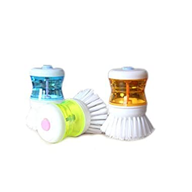 3 PCS Kitchen Wash Tool Pot Dish Bowl Palm Brush Scrubber Cleaning Cleaner Gadget, Good Grips Soap Dispensing Palm Brush