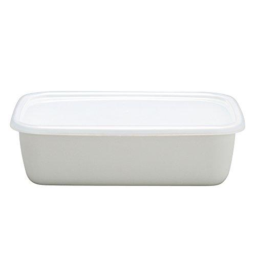 野田琺瑯 ホワイトシリーズ 保存容器 レクタングル深型M シール蓋付 日本製 WRF-M