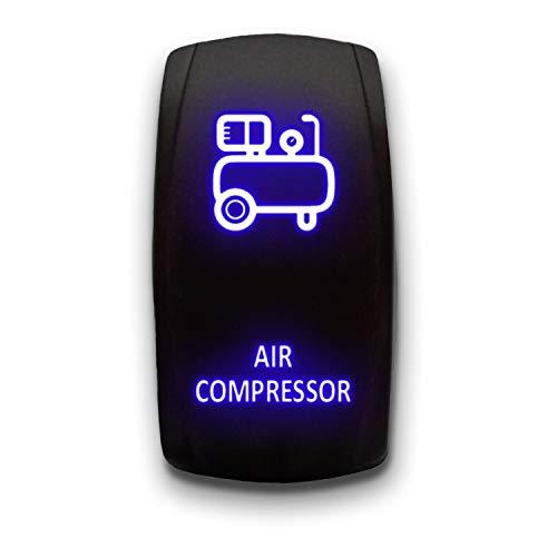 AIR COMPRESSOR V.2 - Blue - STARK 5-PIN Laser Etched LED Rocker Switch Dual Light - 20A 12V ON/OFF